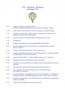 VTG - Aktivitäten 2017 1